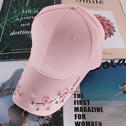 BQMLZY Baseballmütze Floral Baseball Caps Sommer Mädchen Laufen Beauty Bone Mode Verstellbare Mädchen Hut Mütze Outdoor, Pink - Laufen Mädchen Hut
