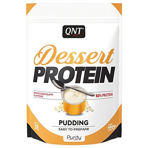 QNT Dessert Protein, White Chocolate, 1er Pack (1 x 480 g) (White Pudding)