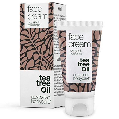 Australian Bodycare Face Cream - Feuchtigkeitsspendende Gesichtscreme mit Teebaumöl. Sehr wirksam gegen Pickel, unreine Haut und Mitesser. Für alle Hauttypen - 100{8882ec26b56eeb8953b43725ef85ddc494536dd076a623994e5944c76b6d7696} vegan - frei von Parabenen (50 ml)