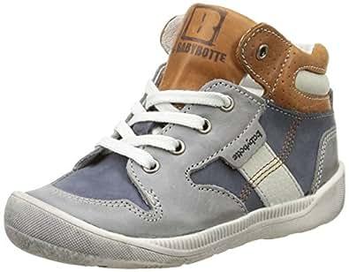 Babybotte Adawin, Sneakers Hautes garçon, Gris (326 Marine/Gris), 20 EU (UK child 4 Enfant UK)