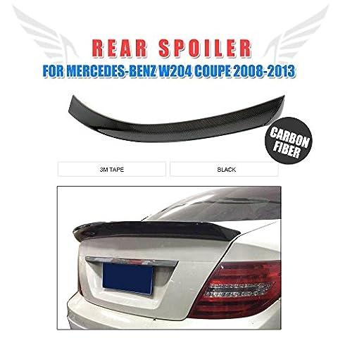 Jcsportline Fibre de carbone tronc Spoiler Aile pour Mercedes Benz Classe C W204Coupé 2portes (2011et après)