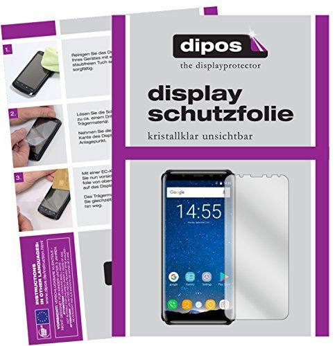 dipos I 6X Schutzfolie klar passend für Oukitel K5000 Folie Bildschirmschutzfolie