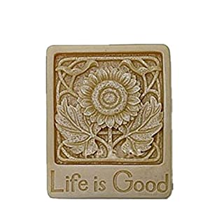 Allforhome Life is Good Craft Art Silicone Soap mold Craft Moulds DIY Handmade soap molds