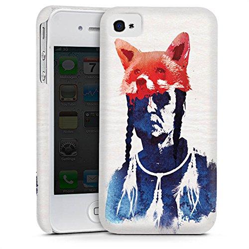 Apple iPhone 5s Housse Étui Protection Coque Renard couleurs Art Cas Premium mat
