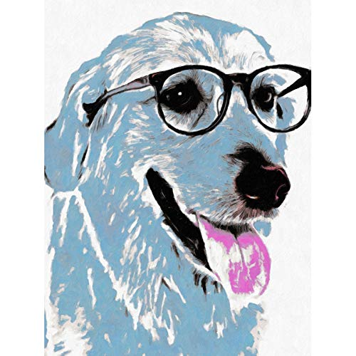 Doppelganger33 LTD Labrador In Spectacles Wall Art Large Art Print Poster Wall Decor 18x24 inch