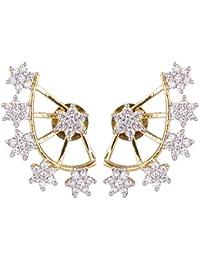 Shining Diva Gold-Plated Ear Cuff Earing For Women