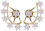 Shining Diva Golden 18K Ad Star Earcuff ...