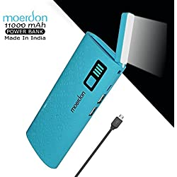 MOERDON Power Bank 11000mAh,Moveble LED flashlight Function Power Bank Rechargeable Battery Charger for all Smartphones
