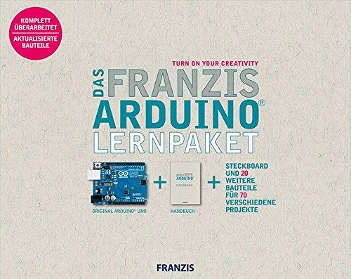 Das Franzis Arduino Lernpaket | inkl. Original Arduino Uno, 1 Steckbrett und 20 weitere Bauteile für 70 verschiedene Projekte