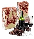 N I A® SAVON BACCHUS Naturseife (Rotwein Bordeaux) I 100 g I handgefertigte Seife mit natürlicher Rezeptur I Seifen Manufaktur Frankreich I N I A® NATUR INSPIRATION ARTDESIGN
