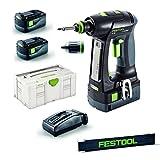Festool Akku-Bohrschrauber - C 18 Li 5,2-Plus - im Systainer - Nr. 574738 - mit extra Festool Meterstab