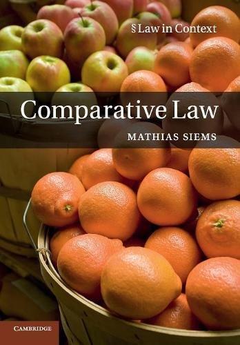 Comparative Law (Law in Context) por Mathias Siems