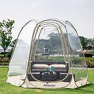 Alvantor Invierno Pantalla Casa Habitacion Camping Tienda Canopy Gazebos 4-6 Persona para Patios, Gran cápsula