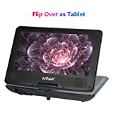 "ieGeek 12.5"" Portable DVD Player, 9.5"" Swivel Screen,5 Hour Rechargeable Battery, Supports SD Card and USB, Direct Play in Formats AVI/RMVB/MP3/JPEG (Black)"