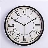 Orologio da parete orologio moderno orologio da parete in metallo moderno orologio da parete orologio da parete moda semplice salotto cucina ristorante camera da letto orologio da parete - bianco e nero , Black