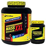MuscleTech MuscleBlaze Mass Gainer Chocolate with Creatine 250 gms Unflavoured, XXL 3 kg/6.6lb