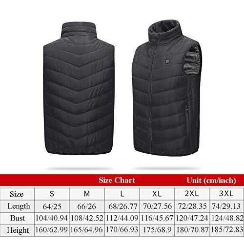 515feXsTxEL. SS500  - DZX Winter Heating Vest/Warm Clothing Electric Jacket,USB Heating-For Camping, Hiking, Skiing And Ice Skating,S