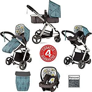 Cosatto Giggle Mix Pram and Pushchair in Fjord with Hold Car seat & Raincover   6
