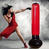 Yosoo Aufgebläht Standboxsack für Erwachsene Boxstand Kickboxen Trainingsgeräte Boxsack Punchingball