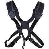 Cinturino in pelle di sassofono qualità tracolla con materiale più spessa sulle spalle tute per sassofono