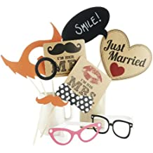Ginger Ray Photo Booth Vintage Style Wedding Mr & Mrs / Partito Props Kit
