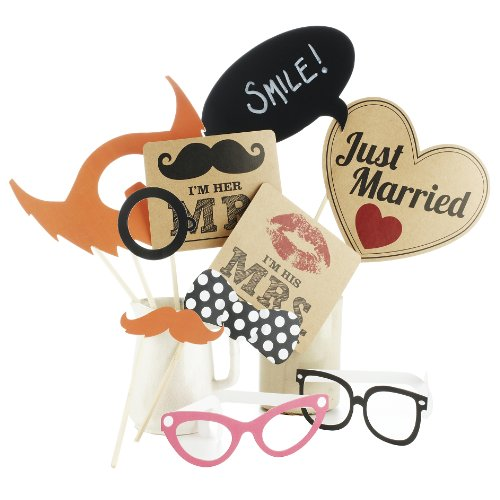 Ginger Ray AF-614 Mr & Mrs Hochzeit Photo Booth Requisiten Vintage Affair