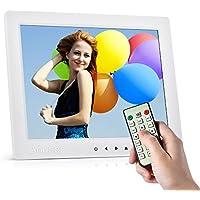 """Andoer 10"""" HD Foto Digital Bild ansehen von Album DM 1080P Video MP4 MP3 Audio TXT eBook Uhr Automatische Wiedergabe mit Infrarot-Fernbedienung/7 Taste Touchscreen/14 Sprache (Weiß)"""