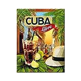 Nostalgic-Art 14309 Open Bar - Cuba Libre, Magnet 8x6 cm