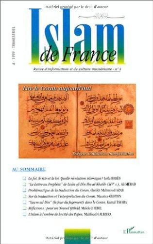 Islam de France 4 lire le coran d'aujourd'hui