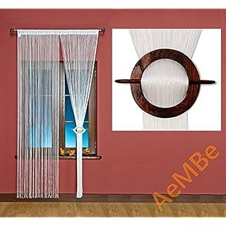 AeMBe - Spaghetti - Fadenvorhang Fadengardine Türvorhang - Breite: 300 cm, Größe: 180 cm - Perlweiß - Höchste Qualität - Perlweiß - 180x300
