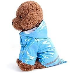 Ueetek Impermeable Reflectante Con Capucha Para Perros Pequeños Medianos Y Grandes Tamaño S
