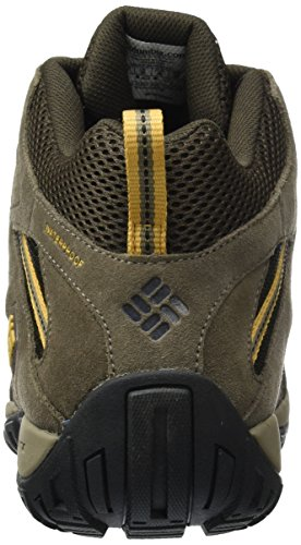 Columbia Redmond Mid, Chaussures de Randonnée Hautes Homme Cordovan, Dark Banana