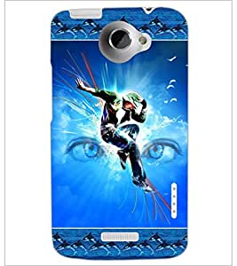 PrintDhaba Dance D-2524 Back Case Cover for HTC ONE X (Multi-Coloured)