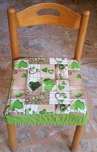 Intimodagiovanni n.6 cuscini coprisedia quadrati universali sfoderabili con zip shabby chic verde new style