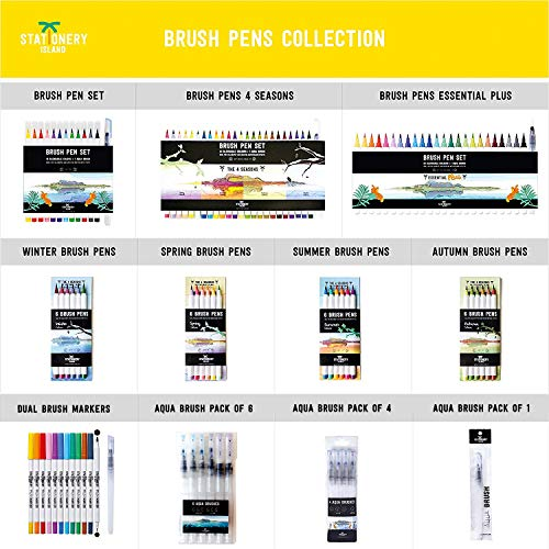 Stationery Island Brush Pen Set - 6