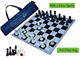 "Paramount 17""x 17"" Professional Vinyl Chess Set (Fide Standards)- with 2 Extra Queens/Chess"