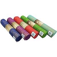 #DoYourYoga® Rutschfeste Yogamatte aus PVC mit eingelassenen Jutefasern - Größe 183x61x0,5cm & wunderschöne Optik - ideale Matte für Yoga, Pilates, Fitness oder Gymnastik »Sampati«