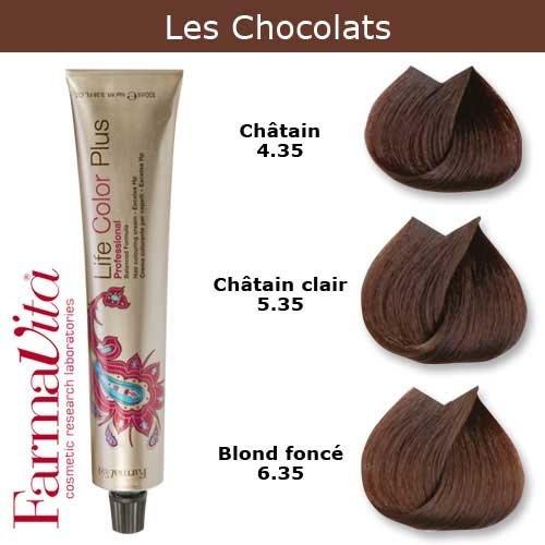 Coloration cheveux FarmaVita - Tons Chocolats Châtain clair chocolat 5.35