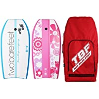 41 Flowers Two Bare Feet 41 Bodyboard Bundle Red Orange 2 x 41 Bodyboards of your choice Aqua Premium Double Carry Bag 41 Aerial
