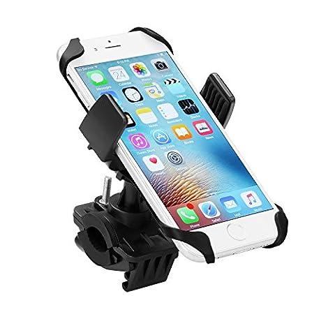 Vakoo Handyhalterung Fahrrad - Universal Smartphone Fahrradhalterung Handy Halterung Halter Sicherheitschutz für iPhone, Samsung und andere Smartphones und GPS
