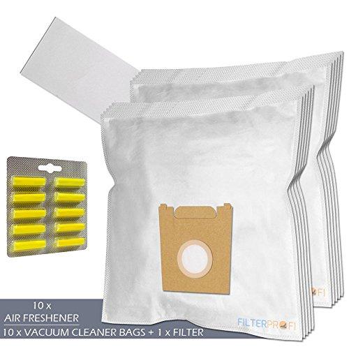 SET - Ambientadores + Filtro + 10 Bolsas de aspiradora Para UFESA Ciceris 1800