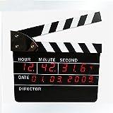 KHSKX Película auténtica badajo campana reloj, reloj de Director Board, minimalista LED alarma reloj electrónico, reloj calendario