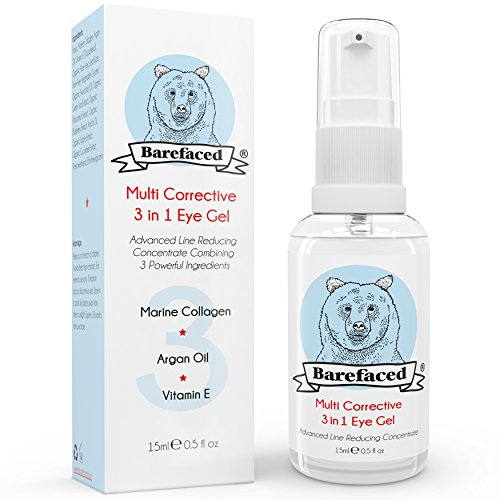 BeBarefaced 3 in 1 Augencreme Augenringe - mit Marine Collagen, Arganöl & Vitamin E