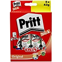 Pritt Stick Original Multipack / Childproof and washable glue stick for paper, cardboard and felt / 5 x 43g - ukpricecomparsion.eu