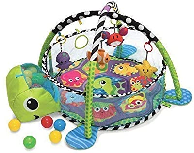Grow With Me 3 in 1 Baby Activity Gym Play Mat & Ball Pit with Mesh Sides