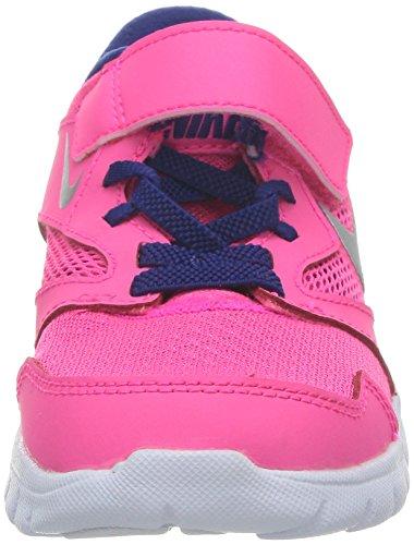Nike FLEX EXPERIENCE 3 GS Rosa Lila Weiss Damen Laufschuhe Running Neu Hyper pink/Metallic silverDeep royal blue