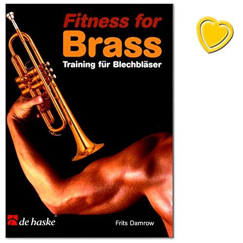 Fitness for Brass - Training für Blechbläser (für den fortgeschrittenen Trompeter) von Frits Damrow - Übungen für die Technik., Atemstütze und für Pedaltöne - Notenbuch mit bunter herzförmiger Notenklammer