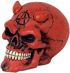 Figuren Shop De Totenkopf Schaltknauf Teufel Rot Auto
