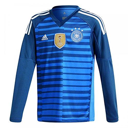 Adidas D04268Children's German National Team Football Goalkeeper Home Long Sleeve Shirt, Children's, DFB Torwart-Heim