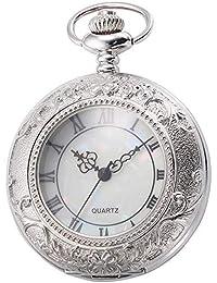 SCH Relojes de Bolsillo Reloj de Bolsillo Reloj de Bolsillo mecánico Reloj de Pared Unisex Antiguo